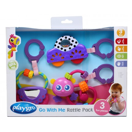 Go With Me Rattle Pack-Pink